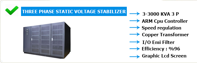 three phase static stabilizer